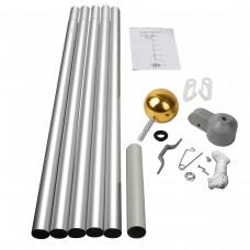 20' Sectional Aluminum Flagpole