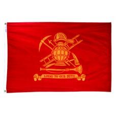 3x5' Nylon Firefighter Flag