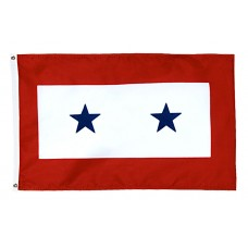 2 Blue Star Service Flag