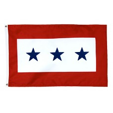3 Blue Star Service Flag