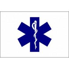 3x5' Nylon Paramedic (EMS/Star of Life) Flag