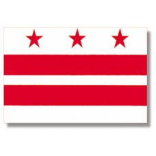 """4x6"""" Hand Held District of Columbia Flag"""
